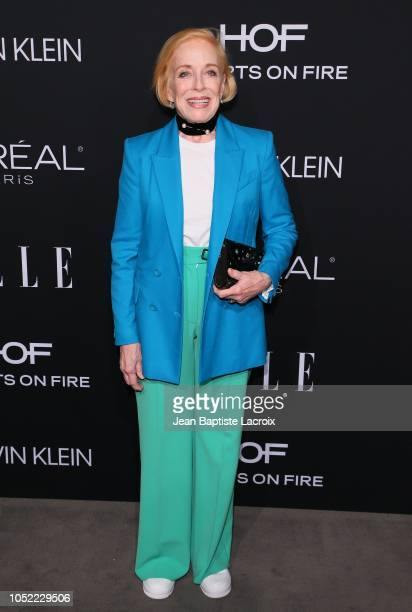 Holland Taylor attends the 25th Annual ELLE Women in Hollywood Celebration at Four Seasons Hotel Los Angeles at Beverly Hills on October 15 2018 in...