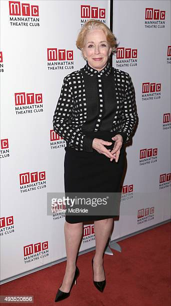 Holland Taylor attends the Opening Night after party for the Manhattan Theatre Club production of Ripcord' at Brasserie 8 1/2 on October 20 2015 in...