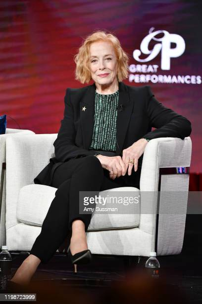 Holland Taylor of great Performances Ann speaks during the PBS segment of the 2020 Winter TCA Press Tour at The Langham Huntington Pasadena on...