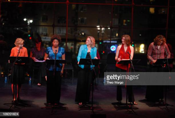 Holland Taylor Saidah Ekulona Cady HuffmaBrenda Strong and Judy Gold perform during the Events of The Heart 1st Annual Benefit Gala 'Heart On' at...