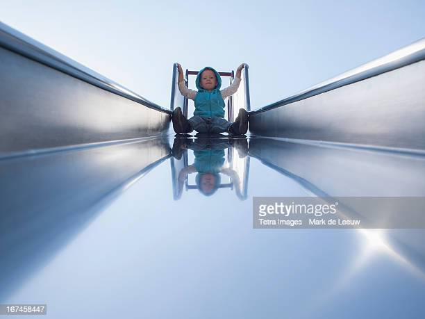 Holland, Tilburg, toddler on slide