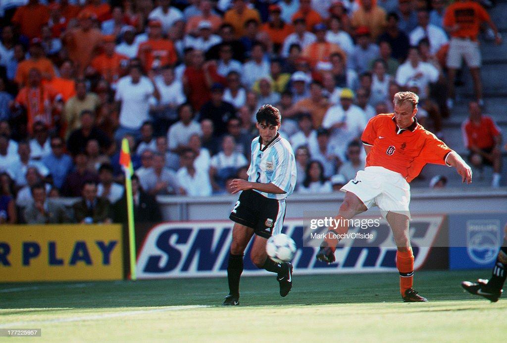 FINALS, Holland v Argentina, Dennis Bergkamp SCORES