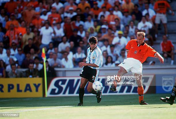FINALS Holland v Argentina Dennis Bergkamp SCORES THE WINNER