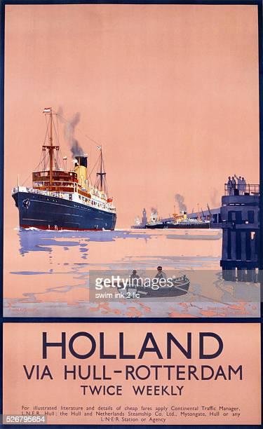 Holland Via Hull-Rotterdam Poster by Frank Henry Mason