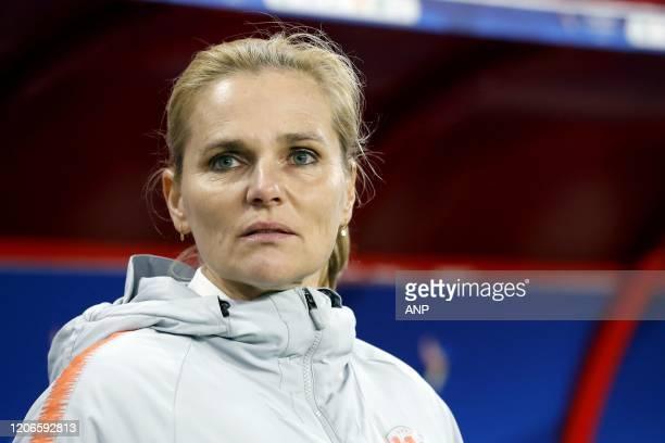 Holland Women coach Sarina Wiegman during the women's international friendly Tournoi de France match between France and The Netherlands at Stade du...