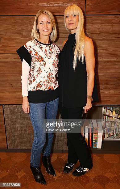 Holli Rogers and Susanne Tide-Frater attends the BFC Fashion Trust x Farfetch cocktail reception on April 28, 2016 in London, England.