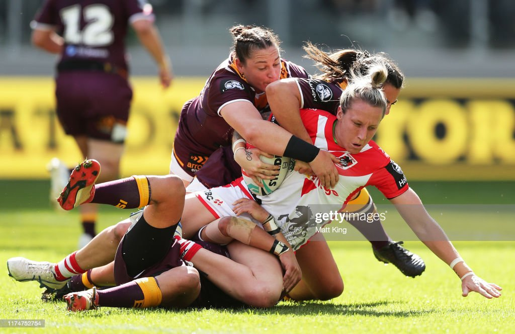 NRLW Rd 1 - Dragons v Broncos : News Photo