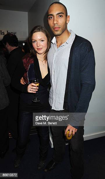 Holliday Grainger and Alex Lanipekun attend the press night of 'Dimetos' at the Donmar Warehouse on March 25 2009 in London England
