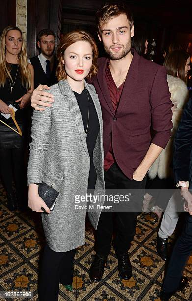 Holliday Grainger and Douglas Booth attend Harvey Weinstein's BAFTA Dinner in partnership with Burberry GREY GOOSE at Little House Mayfair on...