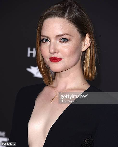 Holliday Grainger arrives at the Premiere Of Disney's The Finest Hours at TCL Chinese Theatre on January 25 2016 in Hollywood California