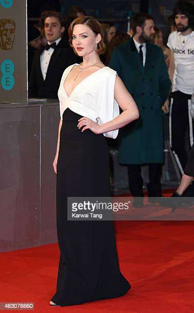Holliday Grainger attends the EE British Academy Film Awards at The Royal Opera House on February 8 2015 in London England