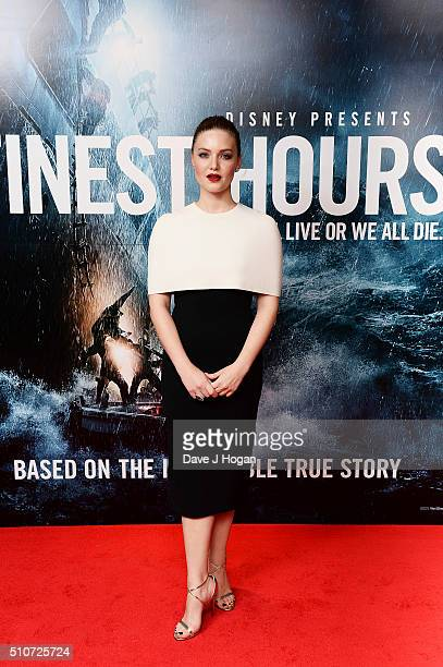 Holliday Grainger attends 'The Finest Hours' Gala Premiere at Ham Yard Hotel on February 16 2016 in London England