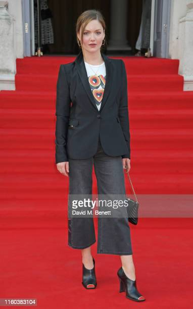 Holliday Grainger attends the opening night of Film4 Summer Screen at Somerset House featuring the UK Premiere of Pain And Glory on August 8 2019 in...