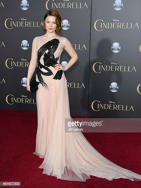 Holliday Grainger attends the premiere of Disney's 'Cinderella' at the El Capitan Theatre on March 1 2015 in Hollywood California