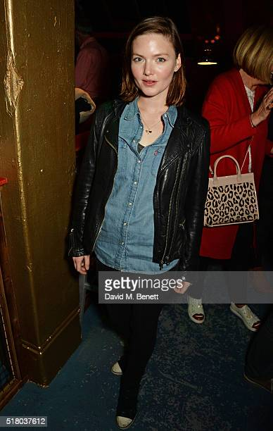 Holliday Grainger attends the press night performance of Bug at Found111 on March 29 2016 in London England