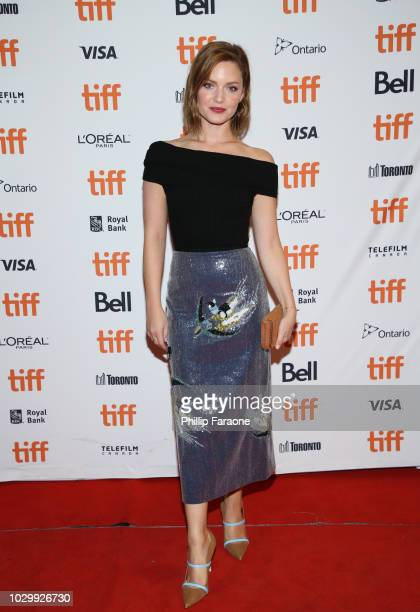 Holliday Grainger attends the Tell It To The Bees premiere during 2018 Toronto International Film Festival at Winter Garden Theatre on September 9...