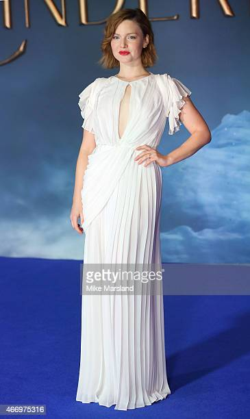 Holliday Grainger attends the UK Premiere of Cinderella at Odeon Leicester Square on March 19 2015 in London England
