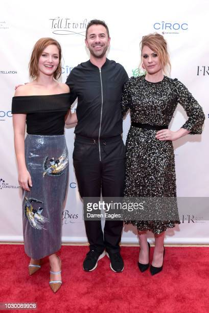 Holliday Grainger Emun Elliott and Anna Paquin attend the 'Tell It to The Bees' Party during 2018 Toronto International Film Festival on September 9...