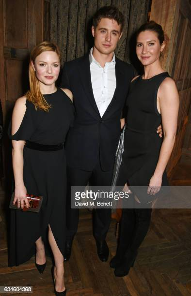 Holliday Grainger Max Irons and Sophie Pera attend a dinner cohosted by Harvey Weinstein Burberry Evgeny Lebedev ahead of the 2017 BAFTA film awards...