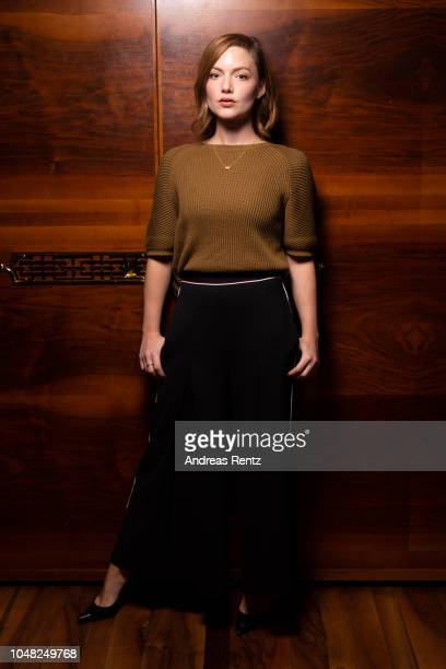 Holliday Grainger poses at the 'Tell it to the Bees' portrait session during the 14th Zurich Film Festival on September 30 2018 in Zurich Switzerland