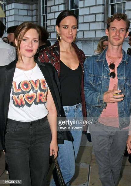 Holliday Grainger Ruta Gedmintas and Luke Treadaway attend the opening night of Film4 Summer Screen at Somerset House featuring the UK Premiere of...