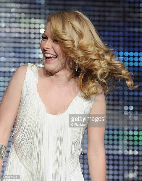 Hollie Cavanagh performs during the American Idol Live Summer Tour presented by Chips Ahoy and Ritz at Power Balance Pavilion on July 21 2012 in...