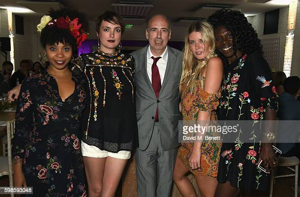 Hollie Cook Lauren Estelle Jones Mick Jones Gracie Egan and Jeni Cook attend Krug Island a food and music experience hosted by Krug champagne on...
