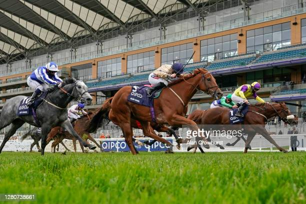 Hollie Doyle riding Glen Shiel win The Qipco British Champions Sprint Stakes during the Qipco British Champions Day at Ascot Racecourse on October...