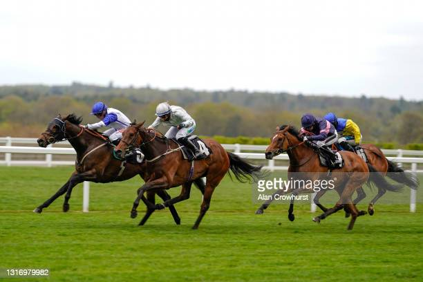 Hollie Doyle riding Mystery Show win The tote+ Exclusively At tote.co.uk Silk Series Fillies' Handicap at Ascot Racecourse on May 08, 2021 in Ascot,...