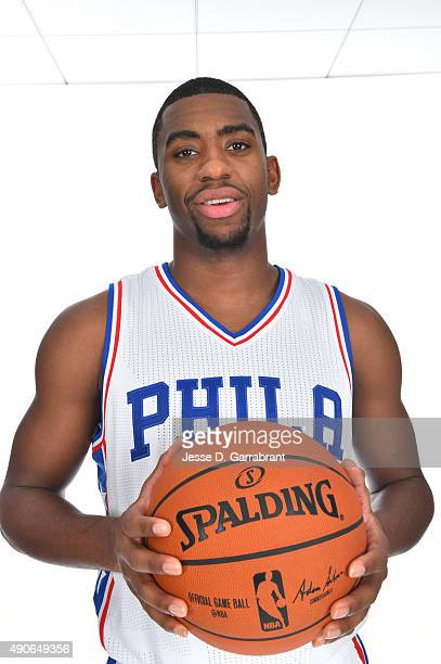 Hollis Thompson of the Philadelphia 76ers poses for a photo during media day on September 28 2015 in Galloway New Jersey NOTE TO USER User expressly...