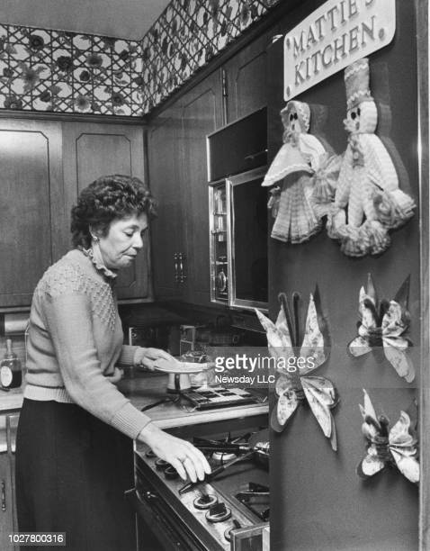 Matilda Cuomo wife of Mario Cuomo in the kitchen of her home in Holliswood Queens NY on November 11 1982
