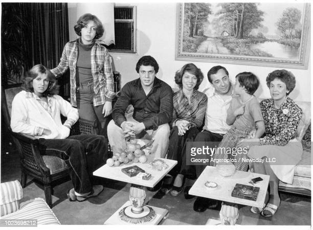The Cuomo family Maria Madeline Andrew Margaret Mario Cuomo Christopher and mother Matilda at their home on Sept 13 1977