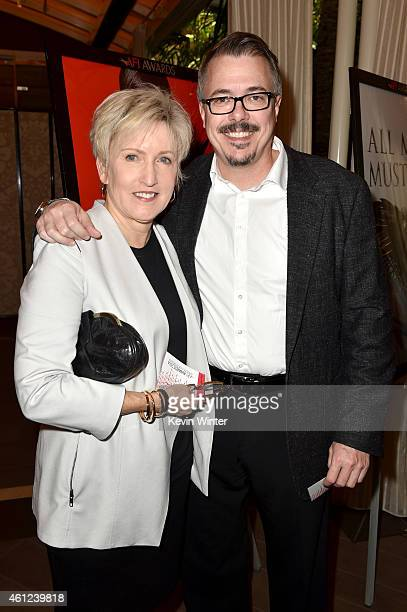 Hollly Rice and writerproducer Vince Gilligan attend the 15th Annual AFI Awards at Four Seasons Hotel Los Angeles at Beverly Hills on January 9 2015...