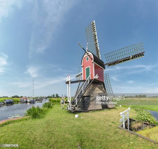 Hollow post mill called De Grosmolen, Hoogmade, Zuid-Holland, Netherlands.