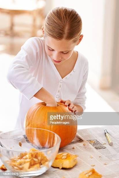 Holloween einen Kürbis für halloween