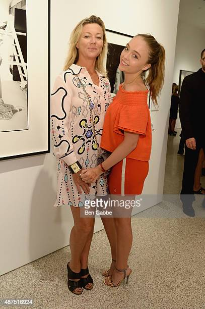 Holly Anderson and Alison Hirsch attend the Patrick Demarchelier special exhibition preview to celebrate NYFW The Shows for Spring 2016 at Christie's...