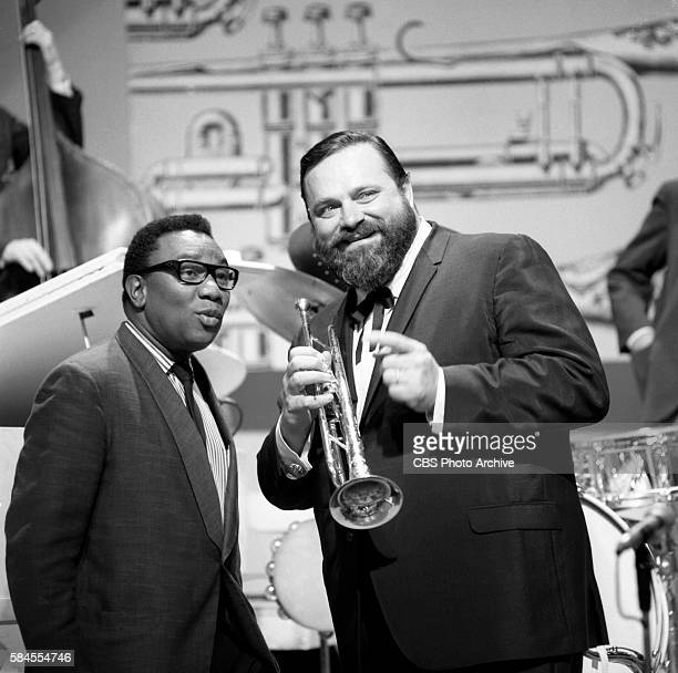 Holly Betaudier Trinidad television producer and trumpet musician Al Hirt New York NY Image dated July 7 1965