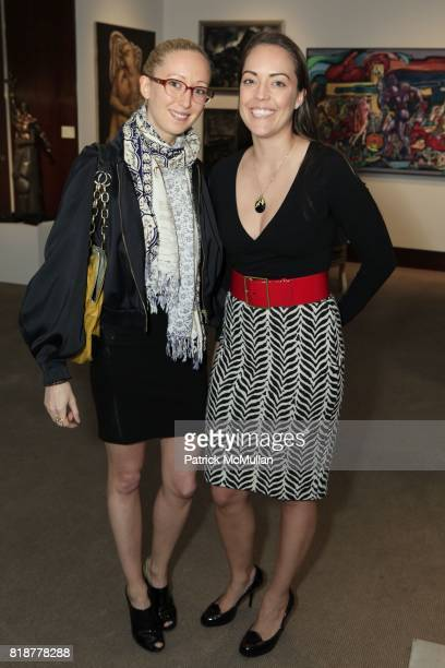 Holly Bloom and Chenoa Johnson attend CHRISTIE'S RUSSIAN ART JEWELS RECEPTION at Christie's on April 19th 2010 in New York City