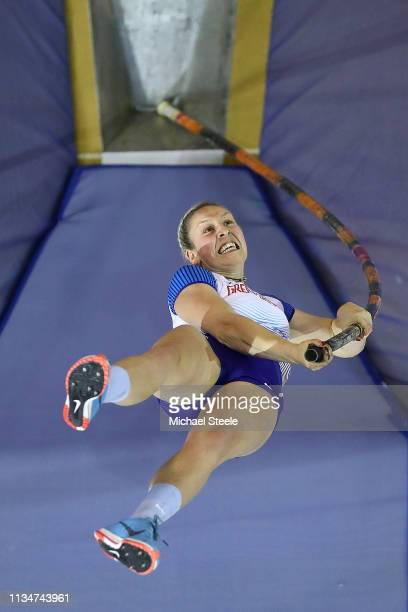 Holly Bradshaw of Great Britain during day three of the 2019 European Athletics Indoor Championships at Emirates Arena on March 03 2019 in Glasgow...