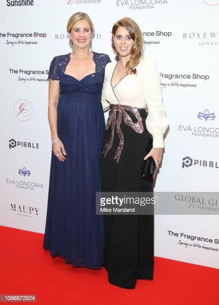 Holly Branson and Princess Beatrice of York attend The 9th Annual Global Gift Gala held at The Rosewood Hotel on November 2 2018 in London England