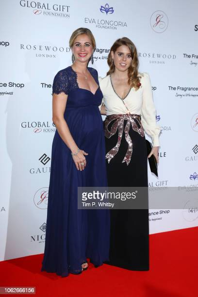 Holly Branson and Princess Beatrice of York attends The 9th Annual Global Gift Gala held at The Rosewood Hotel on November 02 2018 in London England