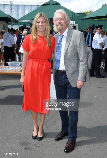 Holly Branson and Richard Branson attend day 10 of the Wimbledon Tennis Championships at the All England Lawn Tennis and Croquet Club on July 11 2019...