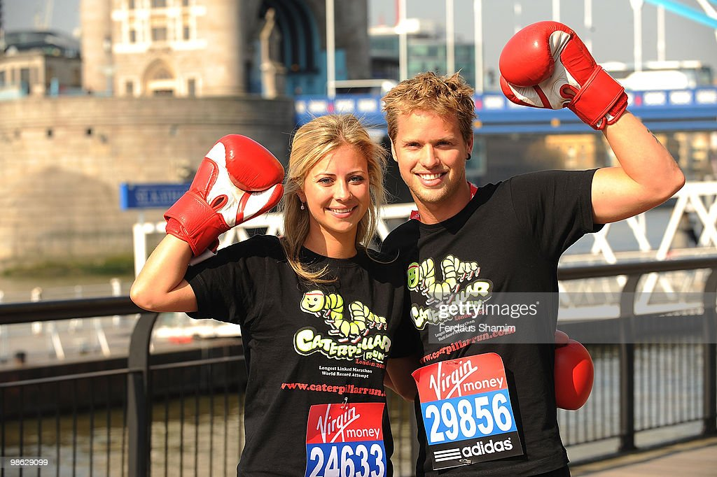 Holly Branson and Sam Branson attend a photocall for the 2010 Virgin London Marathon on April 23, 2010 in London, England.