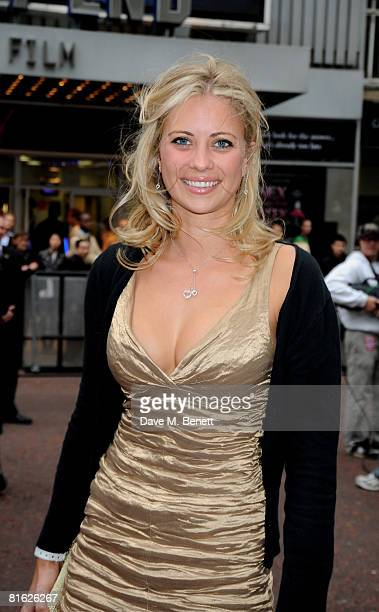 Holly Branson arrives at the UK film premiere of 'Hancock' at Vue Cinema Leicester Square on June 18 2008 in London England