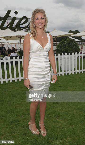 Holly Branson at the Cartier tent during the Cartier Internaional Polo Day at Guards Polo Club on July 26 2009 in Egham England