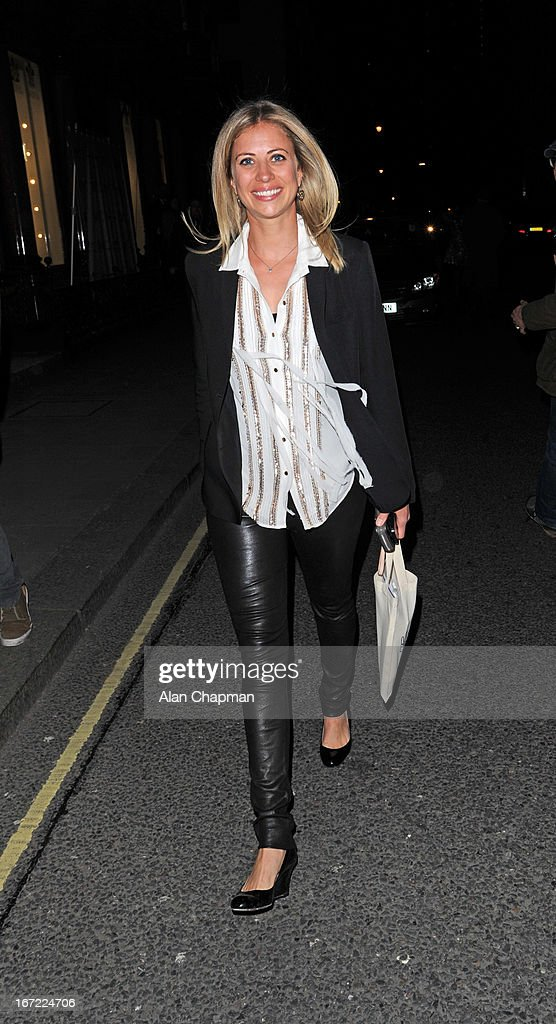 Holly Branson sighting leaving the We Day Movement event at Thomas Goode & Co South Audley Street Mayfair on April 22, 2013 in London, England.
