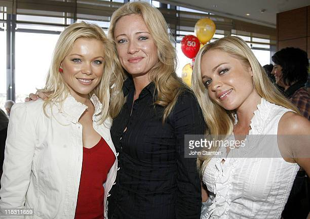 Holly BrisleyAmber Petty and Imogen Bailey during TV Turns 50 Photo Call in Sydney at Star City in Sydney NSW Australia
