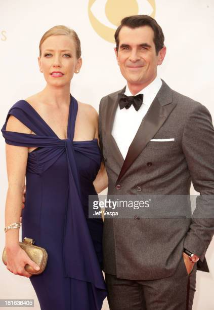 Holly Burrell and actor Ty Burrell arrive at the 65th Annual Primetime Emmy Awards held at Nokia Theatre LA Live on September 22 2013 in Los Angeles...