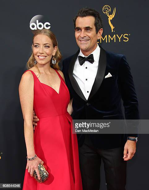 Holly Burrell and actor Ty Burrell attend the 68th Annual Primetime Emmy Awards at Microsoft Theater on September 18 2016 in Los Angeles California