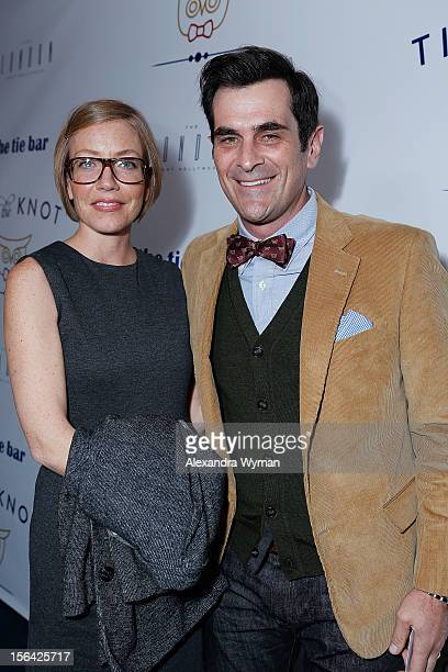 Holly Burrell and Ty Burrell at the launch of Tie The Knot a charity benefitting marriage equality through the sale of limited edition bowties...